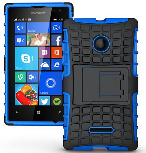 For Microsoft Lumia 532 Armor Heavy Duty Case Dual Layer Hard Hybrid Kickstand Case Shock Proof (Not for Lumia 435)(China (Mainland))