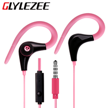 In-Ear Wired Outdoor Sports MP3 Earphone Headset with Microphone Calling for Cellphone iPhone Samsung Xiaomi HTC Huawei