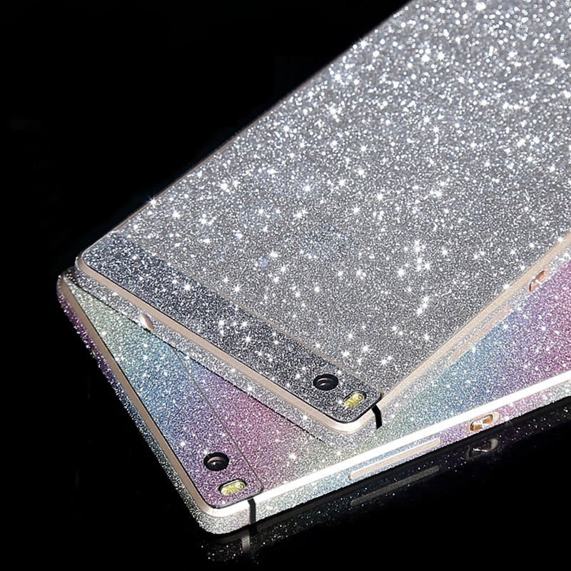 New Bling Glitter Shiny Crystal Diamond Full Body Front and Back Wrap Decal Film Sticker Skin For Huawei Ascend P8 /P8 Lite(China (Mainland))