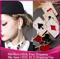 2015 Sale Trendy Women Brooch Acrylic Brooches Fine Jewelry New Cute Funny Little Brooch Modern Poker Suit Playing Cards L037(China (Mainland))