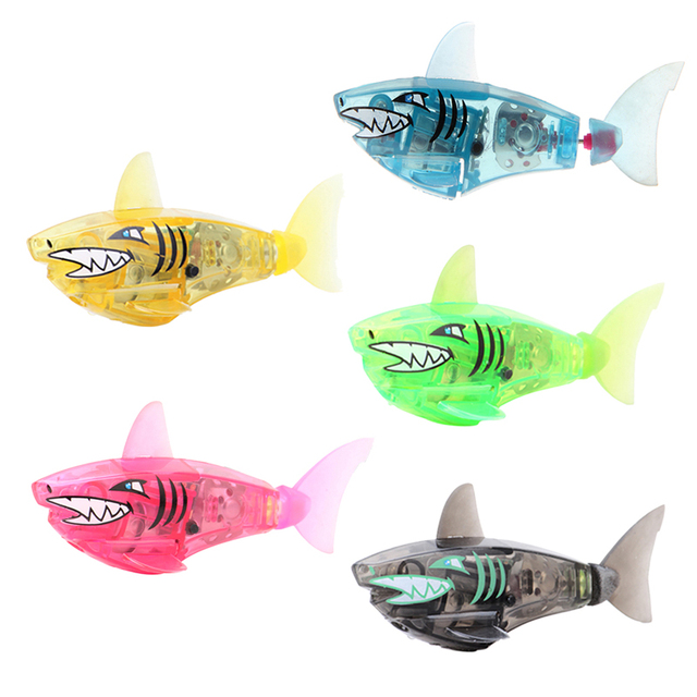 Baby Fish Toys Activated Battery Powered Robot Flashing Shark Toy Interactive Fish Toys for Kid Children