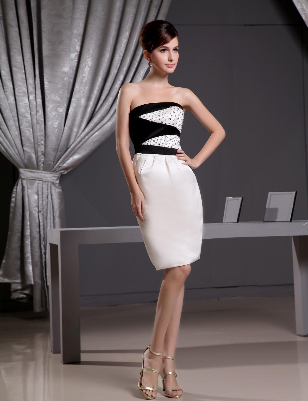Don's Bridal Coctail Dress 2016 Custom Made Satin Knee Length Crystal Sleeveless Sexy Cocktail Dresses(China (Mainland))