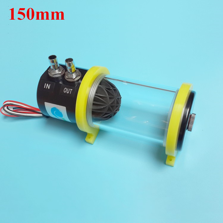 MS-500x 150mm New Acrylic Computer water cooling kit cooled cylindrical Radiator circulation water tank+water pump box set(China (Mainland))