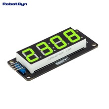 LED display tube module, 4 bits TM1637 driver, 4-Digit , 7-segments, GREEN(China (Mainland))