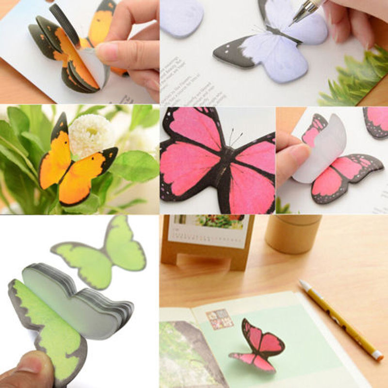40 pages/bag Butterfly Sticker Post It Bookmark Marker Memo Index Tab Flags Sticky Notes Free Shipping(China (Mainland))