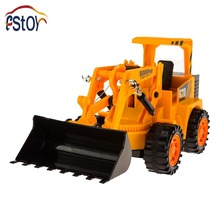 Low Price 6CH Wired Control Simulation Bulldozer 4 wheel construction Bulldozer wheel drive Engineering van electronic toys(China (Mainland))