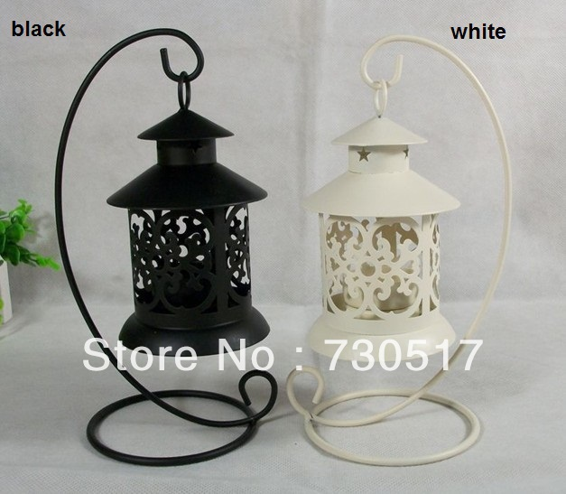 White Metal Pillar Candle Holders : Metal wrought iron pillar tea light candle holder stand