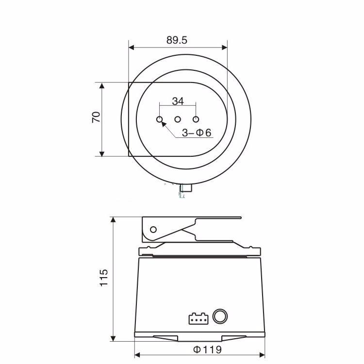 2018 dc 12v cctv bracket ptz electrical rotating rs485
