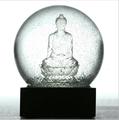 9Pig Souvenirs Crystal Ball Snow Globe Sakyamuni on the Totus Buddhism believer Buddha Transparent Ball Home