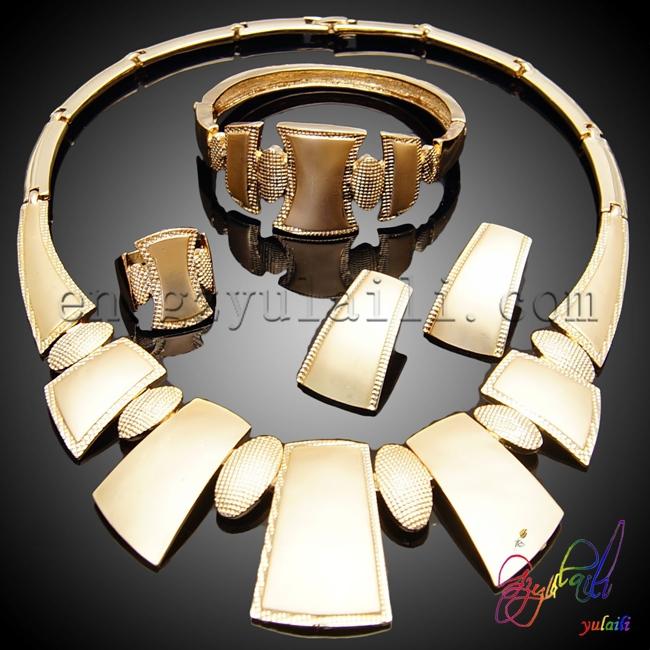 Free shipping dubai gold plated jewelry set indian bridal jewelry sets sale Italian gold plated jewelry sets(China (Mainland))