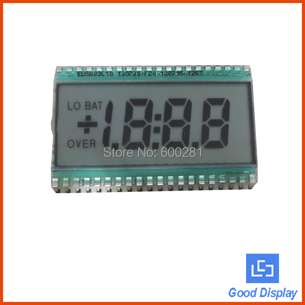12:00 view direction transflective 5V 3.5 digits 7 segment tn lcd display 803(China (Mainland))