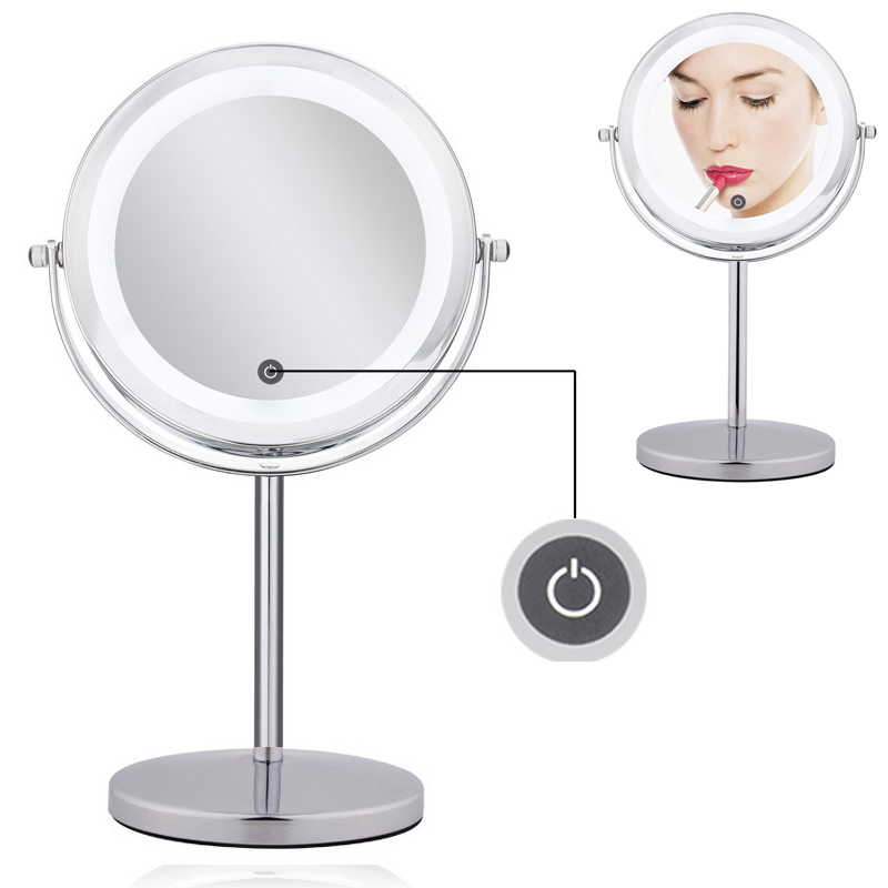 inch 10x magnification touch switch led lighted makeup mirror dual 2. Black Bedroom Furniture Sets. Home Design Ideas