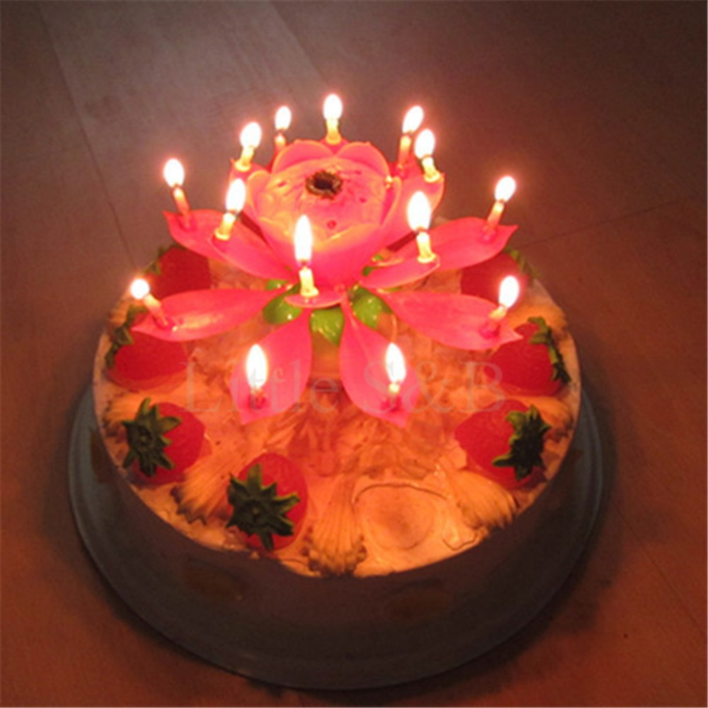 Happy Birthday Flower Candle 7248411 Sciencemadesimplefo