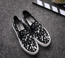 Female JK doodle canvas shoes sneakers Harajuku lolita preppy chic pedal lazy Graffiti shoes cotton made