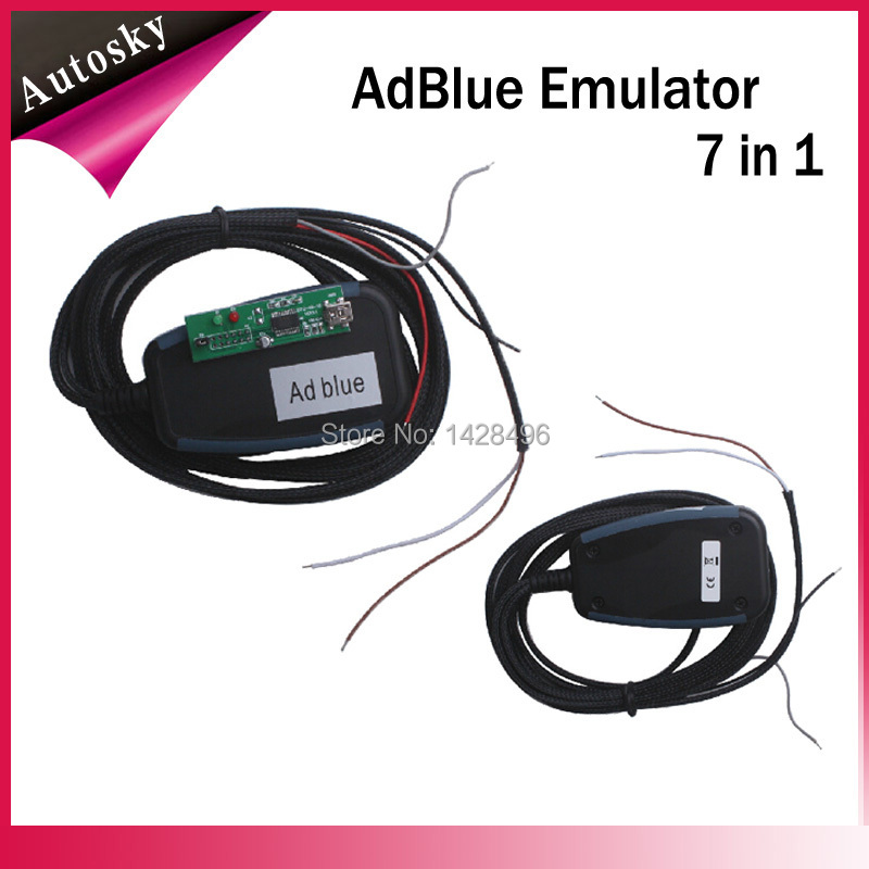Free Shipping 7in1 Adblue Emulation/Truck Remove Tool Adblue Emulation Module Truck Adblue Scan Tool(China (Mainland))