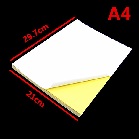 50 Sheets A4 Self-adhesive Sticker Label A4 Label Sticker Matte Surface paper For Inkjet Printer<br><br>Aliexpress
