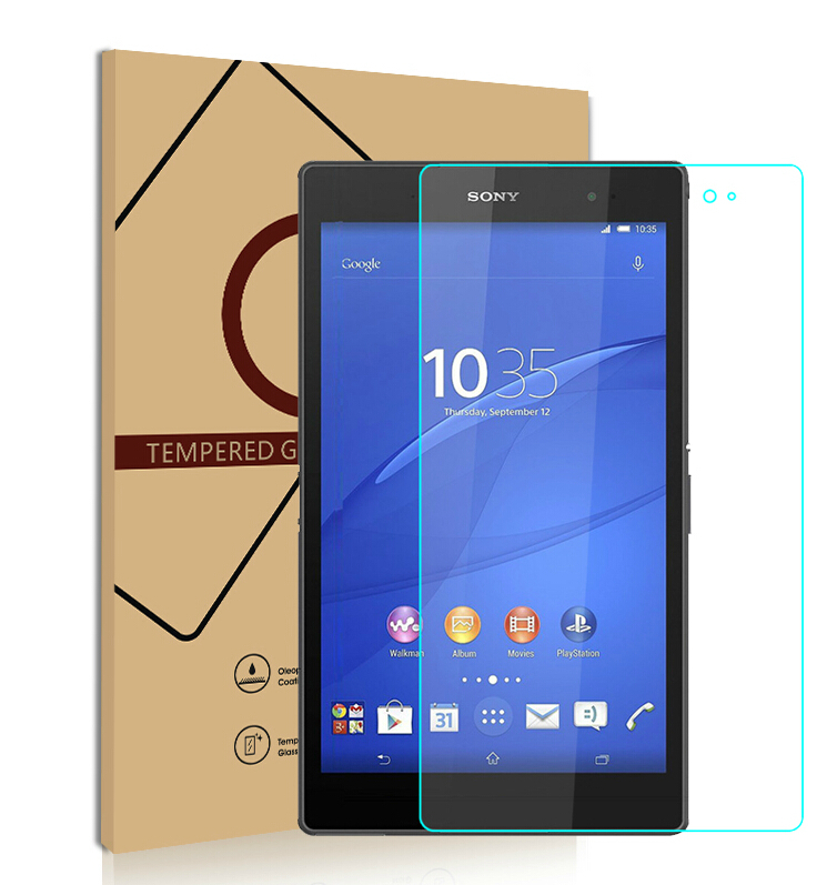 2.5D Edge 9H For Sony Xperia Z3 Tablet PC Tempered Glass Screen Protector Protective Film(China (Mainland))