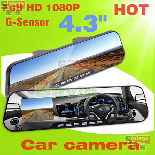 1 set rear view internal mirror Motion detection /seamless loop video car reverse camera with mirror and sensors mirror car dvr <br><br>Aliexpress