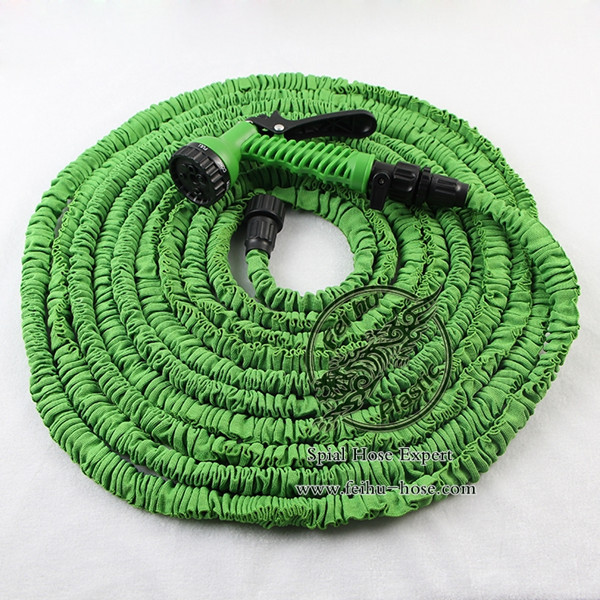 Free Shipping Expandable Water Hose 100FT With CE &SGS, Flexible Hose With Spray Gun(China (Mainland))