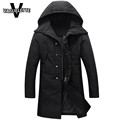 Fashion Korean Long Parka Solid Black Winterjassen Mannen Thick Winter Coat White Duck Down Jacket Men