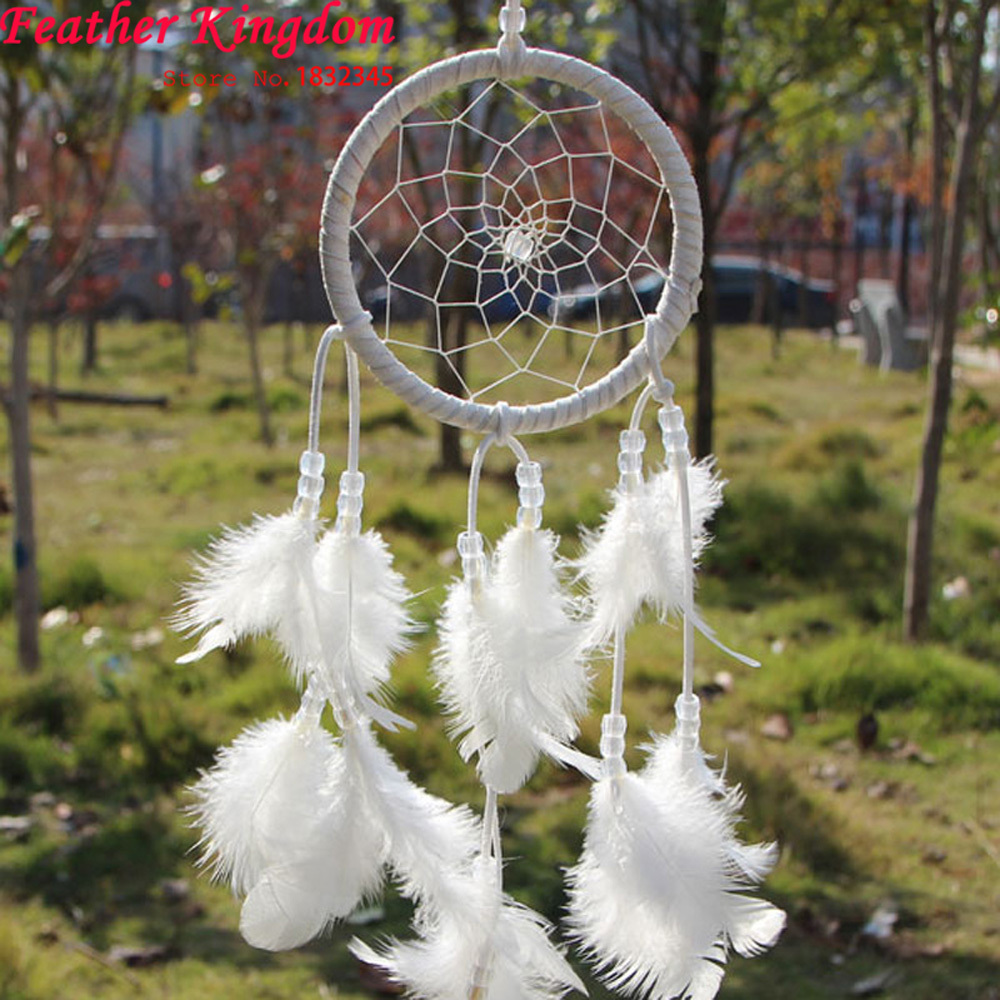 Handmade Feather Dream Catcher Dreamcatcher for Wall Hanging Ornament Craft Gifts Children Room Decoration(China (Mainland))
