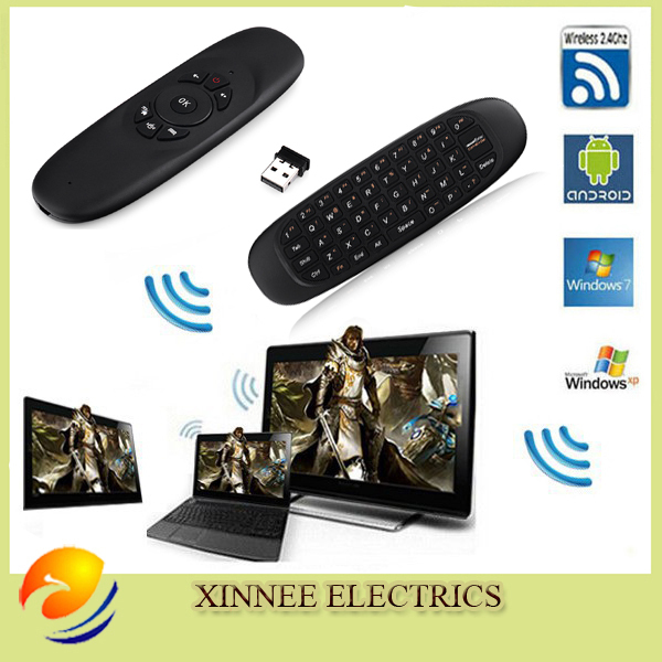 Gyroscope 2.4GHz G Mouse II/C120 Air Mouse Rechargeable Wireless GYRO Air Fly Mouse Keyboard for For Smart Tv Box Mini PC(China (Mainland))