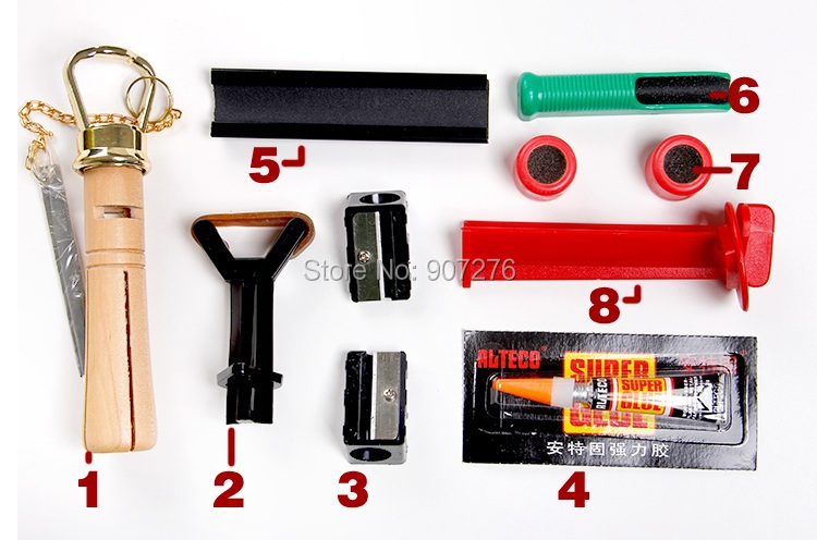 Cue stick repair kit, Snooker pole repair equipments, billiard cue stick tip change tools(China (Mainland))