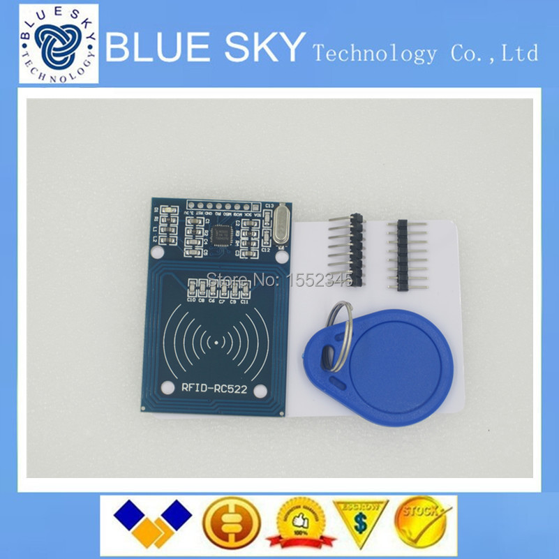 1PCS/LOT RFID module RC522 Kits S50 13.56 Mhz 6cm With Tags SPI Write & Read for arduino uno 2560(China (Mainland))