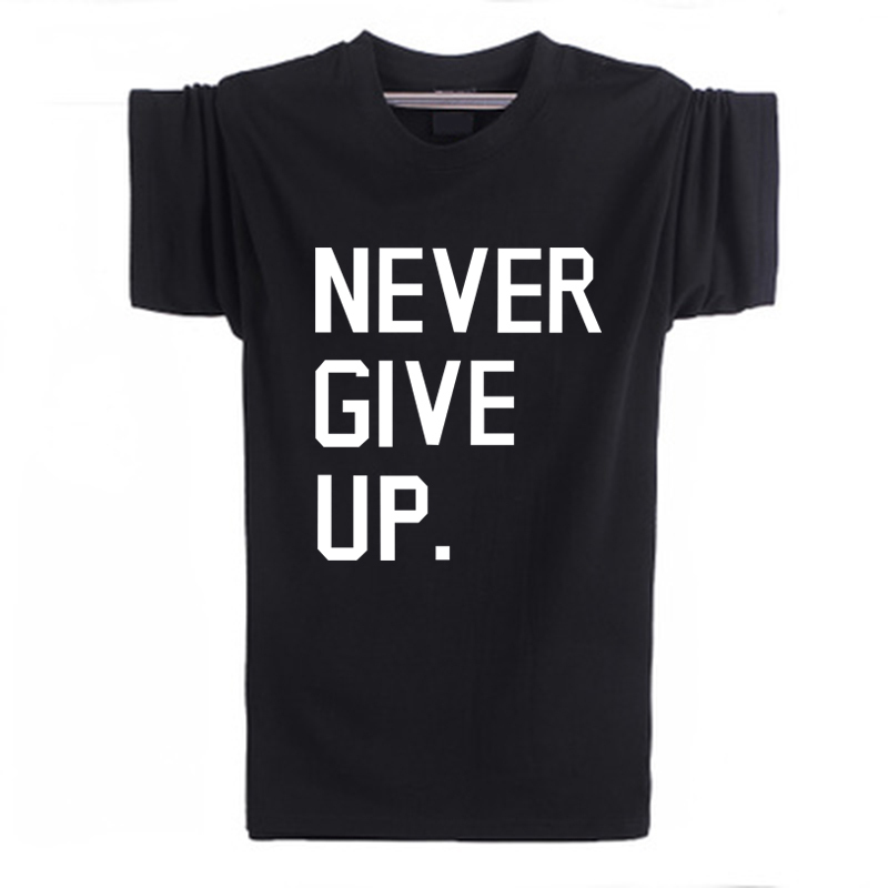 Never give up Ice Bucket Challenge Printed Mens Men T Shirt Manga Curta Short O neck male cotton Sleeve tee shirts F10621Одежда и ак�е��уары<br><br><br>Aliexpress