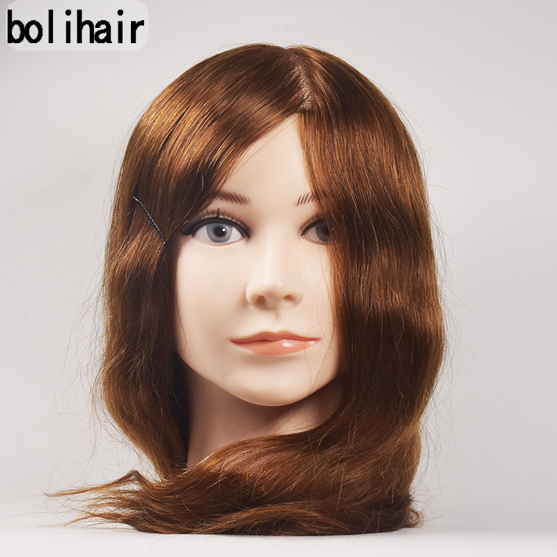 Mannequin Head Hair Training Hairdressing Doll Mannequins 100 Human Hair Heads Dummy Hairstyles 16 Inch Training Mannequin Head