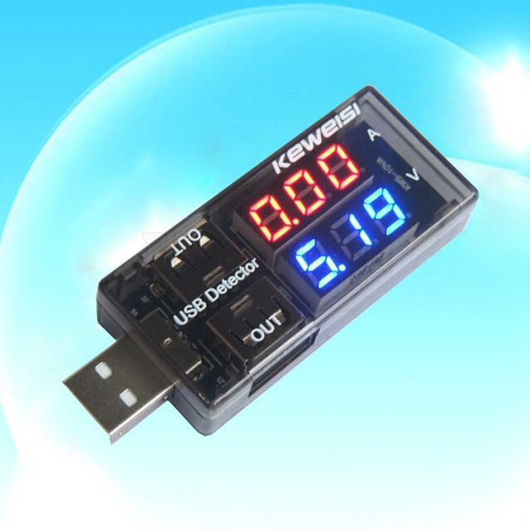 LCD USB Mini Voltage Meters And Current Detector Voltmeter Ammeter Voltage Mobile Power USB Charger Tester Meter 50(China (Mainland))