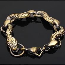 Wholesale Titanium Steel Snake Bracelet Mens Bracelets & Bangles Fashion Jewelry 10pcs/lot Free Shipping(China (Mainland))