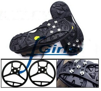 Black Anti Slip Pad Ground Grips SHOE TREADS,Ice/Snow Crampons Cleats Shoes Grip,non slip ice treads,30pcs/lot