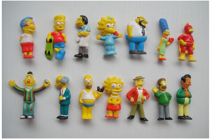 25pcs The Simpsons Figure Toy Simpsons Collection Figures Simpsons Family Toys Children Gifts hot sale(China (Mainland))