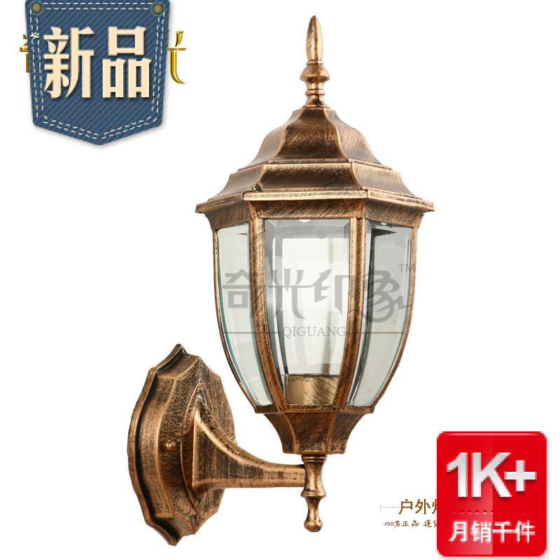 Free shipping Outdoor lamp fashion wall lamp modern brief outdoor balcony waterproof lighting fitting led street light()