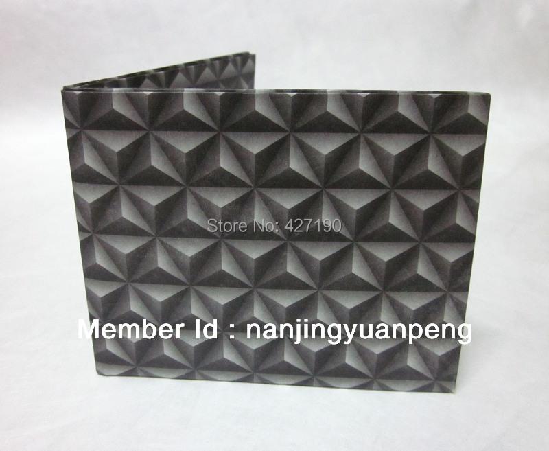 10 pcs/ lot Triangular Pyramid printed tyvek wallet waterproof paper wallet(China (Mainland))