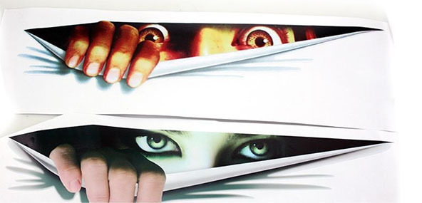 30*8.5cm Woman Eyes Funny peeping car styling stickers opel astra j peugeot508 mazda cx-5 volvo lexus kinds car:) - Sunny wang store