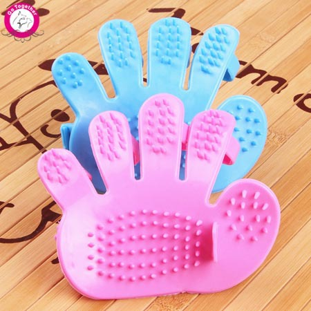 1pc Pet Dog Bath Brush Glove Massage Soft Rubber Cat Comb Brush Puppy Cleaning Grooming Products(China (Mainland))