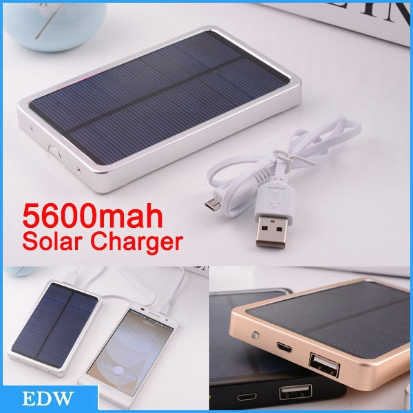 5600mAh Solar Charger External Battery Pack Power Bank For Cellphone iPhone 6/6 Plus 4s 5 5S iPad iPod Samsung Nokia Portable(China (Mainland))