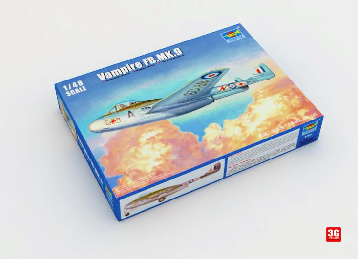 Trumpeter aircraft model 02875 British fighter model vampire FB.MK.9<br><br>Aliexpress