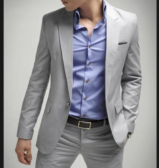 Grey Suits For Men Wedding 2015 Fashion Grey Mens Suit