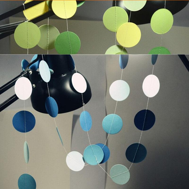 2016 1PCS 2M New Holiday Party Wedding Room Classroom Decor Long Paper Garland Ornaments Curtain Wall Decorations(China (Mainland))