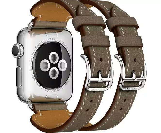 Последним Для Apple Watchband2 новый Роскошные GenuineLeather Группа Двухместный Тур Браслет Кожаный Ремешок Ремешок для Apple Watch 38mm42mm