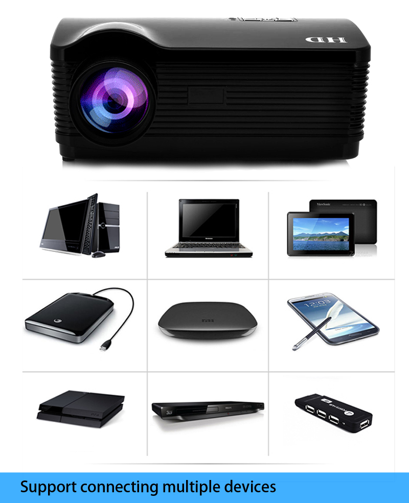 2015 new lcd 4500 lumens mini projector android 1080p for Best mini projector 2015