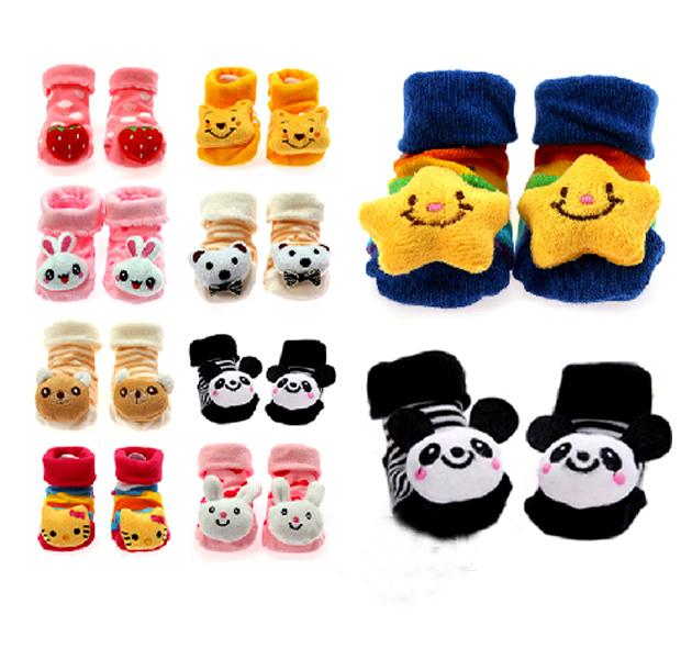 Newborn Lovely Baby Girl Boy Unisex Anti slip Socks Animal Boots 0 6 Months