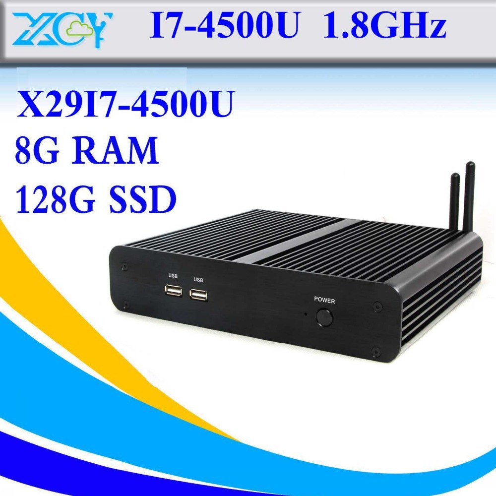 The cheapest desktop embedded computer intel i7 4500u 8g ram 128g ssd host desk-top computers support win 7 XP thin client(China (Mainland))