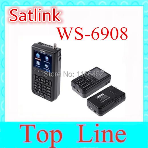 "X free shipping Original Satlink WS-6908 3.5"" DVB-S FTA digital satellite meter satellite finder ws 6908 satlink ws6908(China (Mainland))"