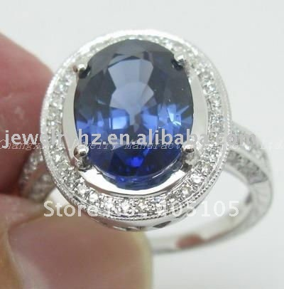 SOLID 14KT GOLD EXCELLENT SAPPHIRE COLOR DIAMOND JEWELRY<br><br>Aliexpress