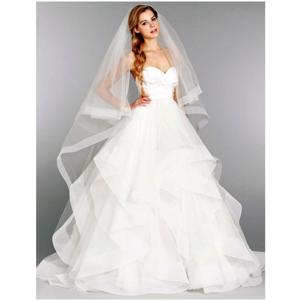 Simple Tiered Waist Band Wedding Dresses Reasonable Price Perfect Service Welcome To Choose And Buy(China (Mainland))