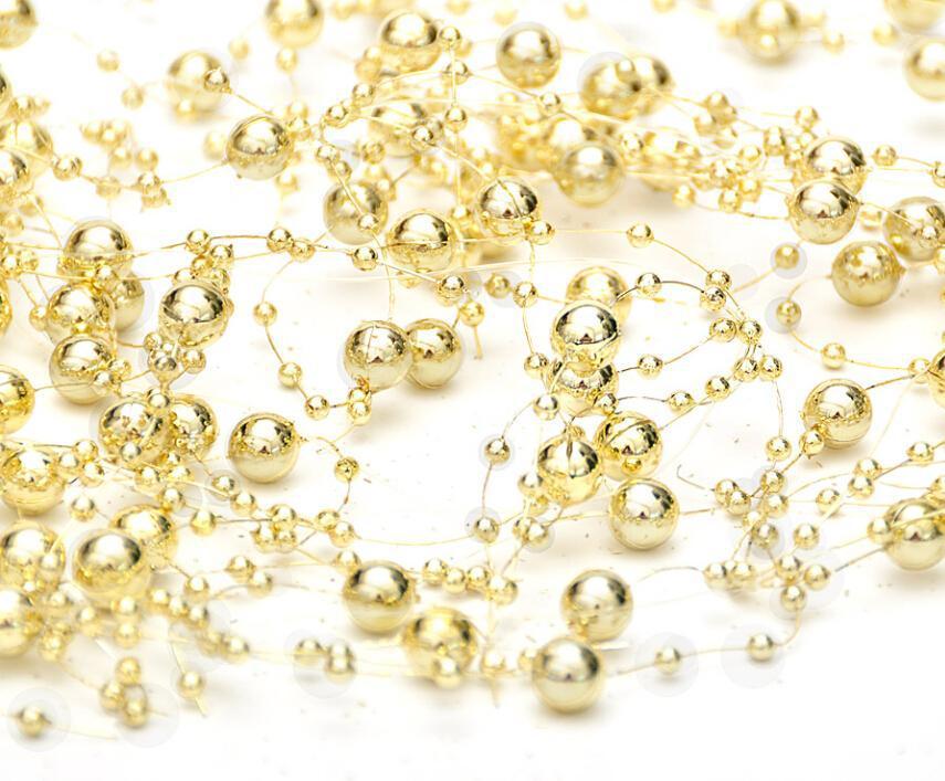 Hot Sale- 120cm line light chain beads pendant Christmas decorations for christmas tree(China (Mainland))